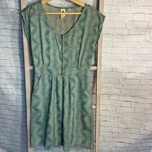 💝 3/$75 Anthro Needle & Thread Teal & Taupe Dress